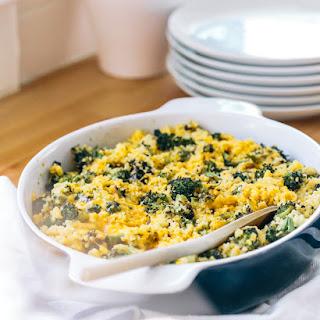 Roasted Broccoli and Cheddar Millet Bake
