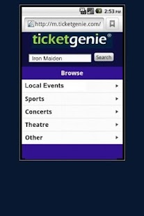 Rod Stewart Tickets - screenshot thumbnail