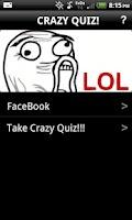 Screenshot of Crazy Quiz!