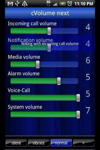 Volume setting[cVolume] next- screenshot