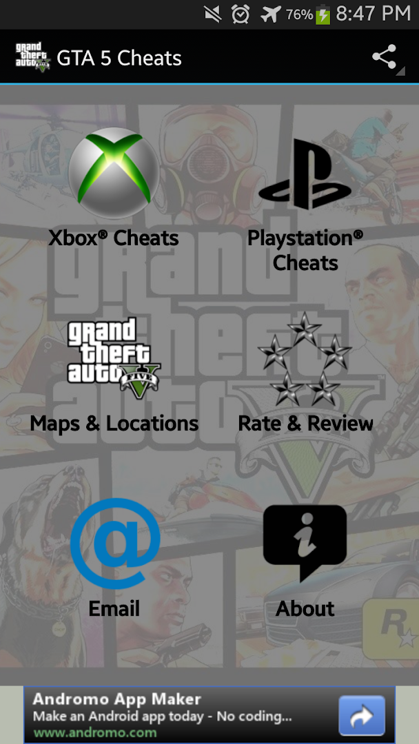 Gta 5 Cheats Google Play Store Revenue Amp Download