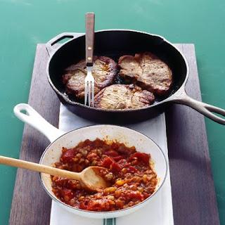 Pork Chops with Tomato Chutney.