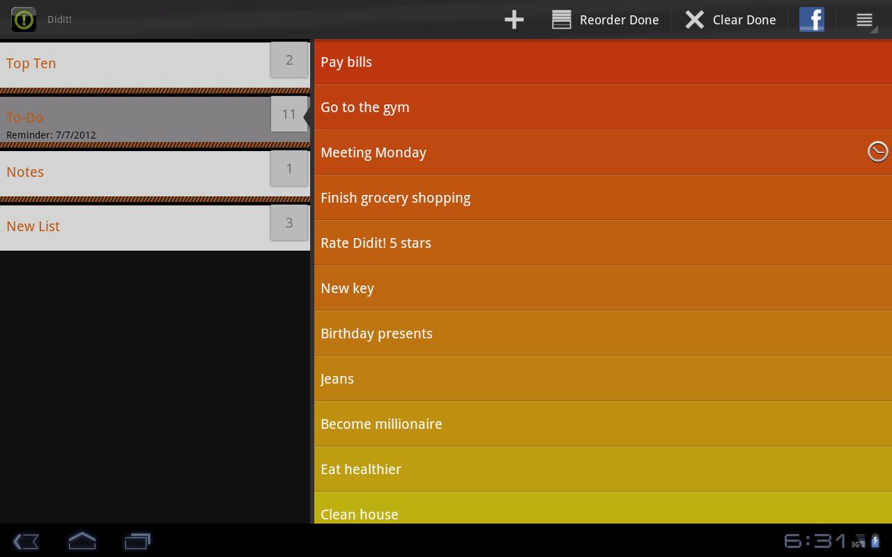 Did it   Free To-Do List - screenshot