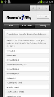 RUNNING PACE CALCULATOR - screenshot thumbnail