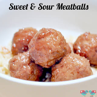 Crock Pot Sweet and Sour Meatballs.