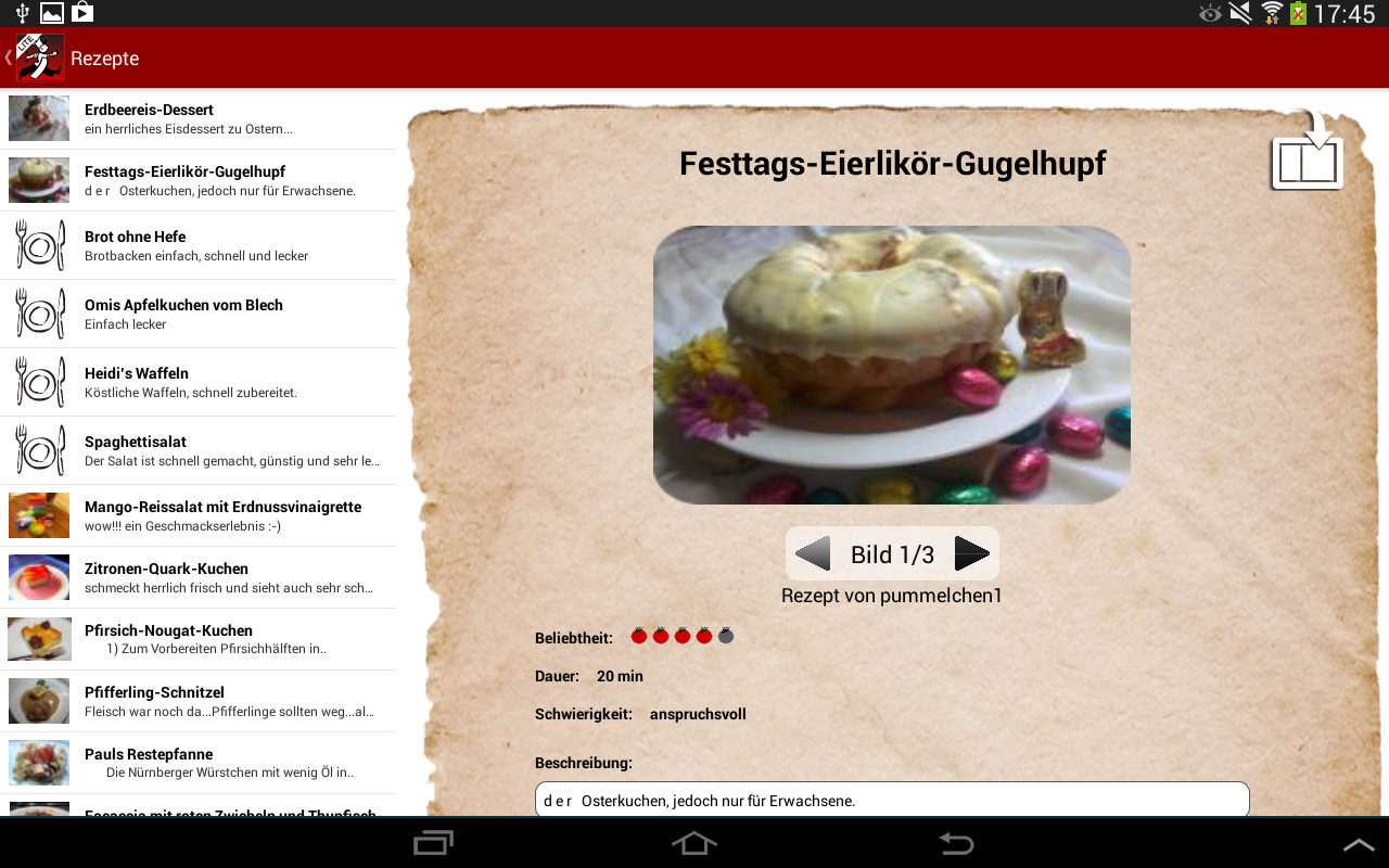 Kochmeister Rezepte GRATIS- screenshot