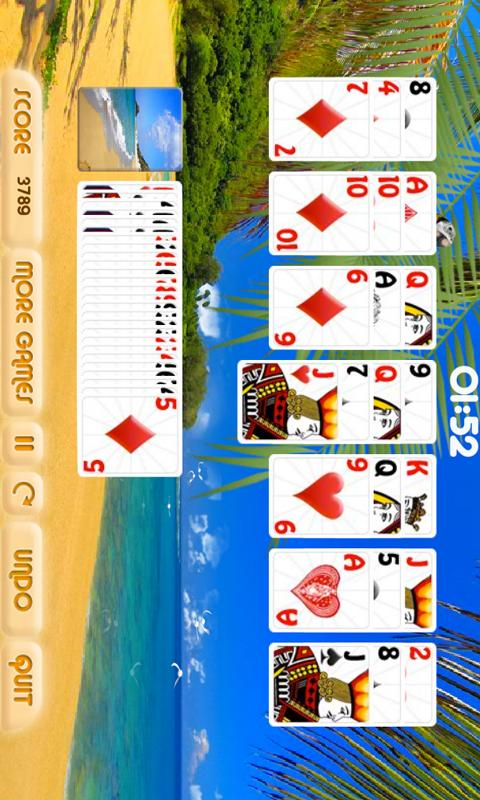 Sunny Beach Solitaire Free - screenshot