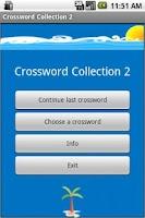 Screenshot of Crossword Collection Vol.2