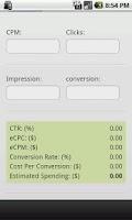 Screenshot of Ads CPM and CPC Calculator