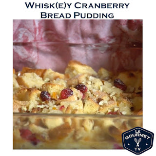 Whisky Cranberry Bread Pudding