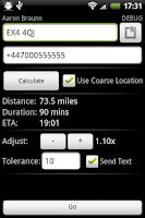 Screenshot of ETA Text