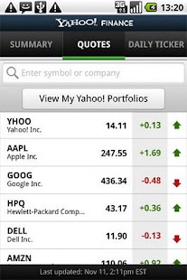 Yahoo Finance - screenshot thumbnail