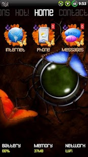Butterfly theme for ssLauncher- screenshot thumbnail