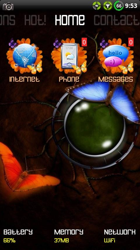 Butterfly theme for ssLauncher - screenshot