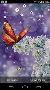 蝴蝶春天繽紛花朵壁紙