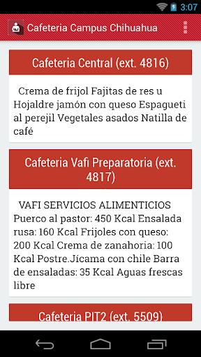 Cafeteria Campus Chihuahua