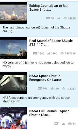 Space Shuttle Launch Videos