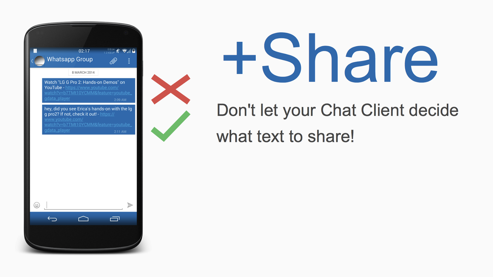 +Share - Sharing done right.- screenshot