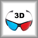 Anaglyph 3D Earth icon