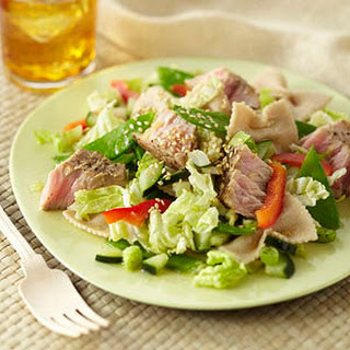 Seared Tuna Pasta Salad.