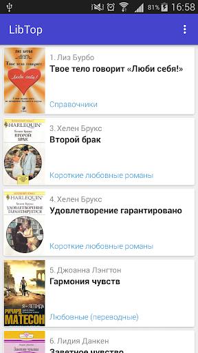 LibTop: Рейтинг книг