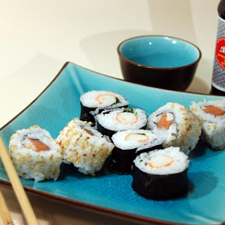 Homemade Sushi and Maki Roll.
