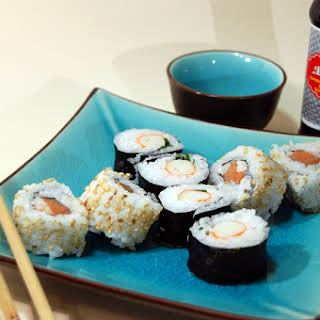 Homemade Sushi and Maki Roll.