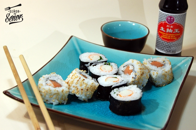Homemade Sushi and Maki Roll
