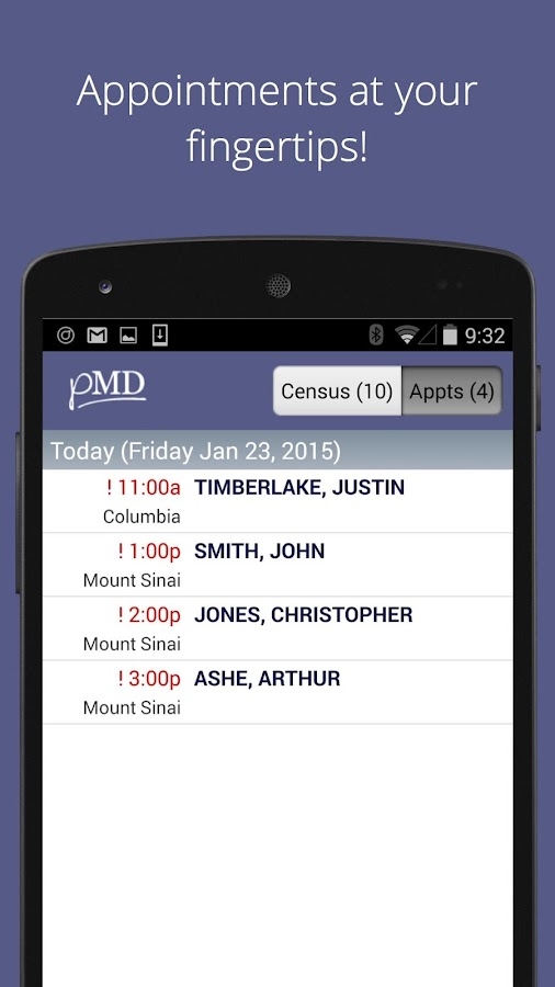 pMD Charge Capture & Messaging- screenshot