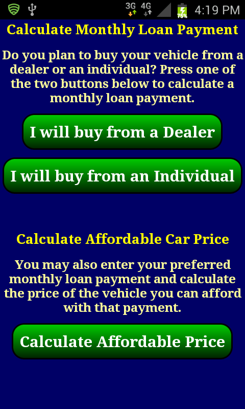 Car Loan Payment Calc Pro - screenshot