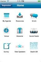 Screenshot of IBM Event App