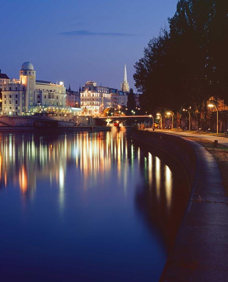 A path along the Danube in Vienna, Austria.