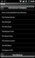 Screenshot of Kettlebell Abs + Core Workou