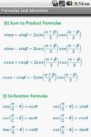 Screenshot of Trigonometry QuickReferencePro