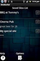 Screenshot of Site Marker