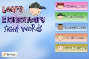 Screenshot of Learn Elementary Sight Words