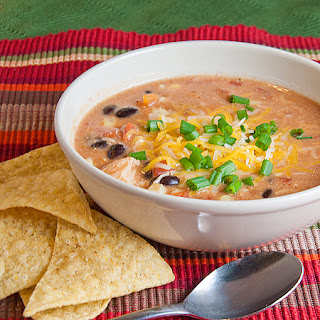 Quick Chicken Enchilada Soup.