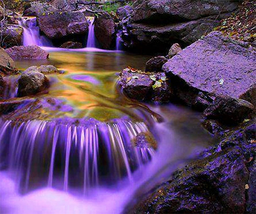 Purple Waterfall Wallpaper