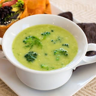 Vegan Cream of Broccoli Soup.