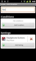 Screenshot of Locale/Tasker Headphone Button