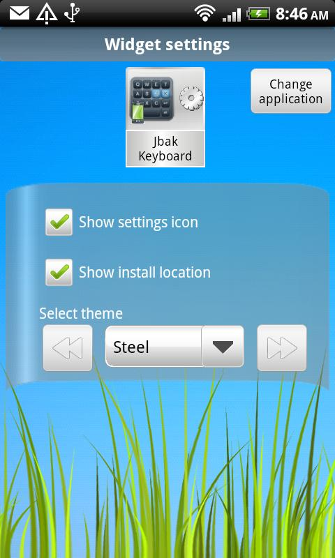 App Widget- screenshot