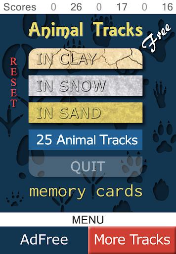 Animal Tracks Memory Free