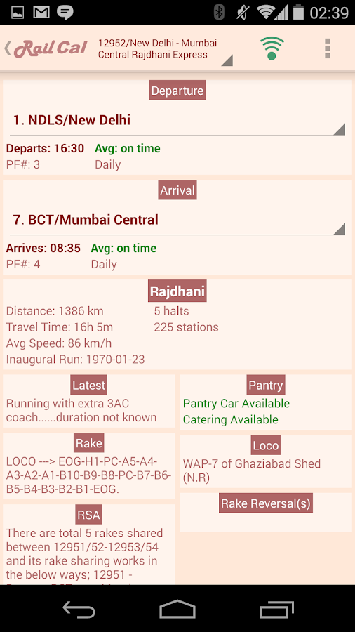 RailCal: the official India Rail Info app- screenshot