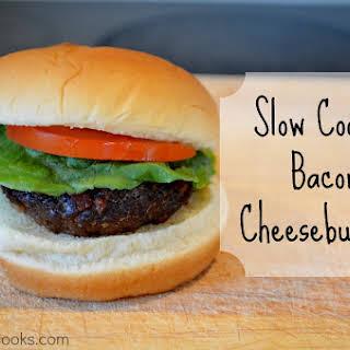 Slow Cooker Bacon Cheeseburgers.