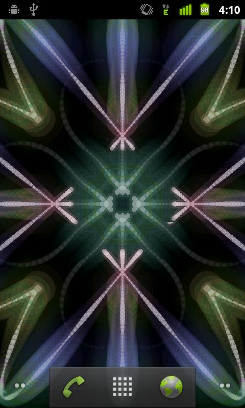 Glow Kaleidoscope LiveWallpape - screenshot