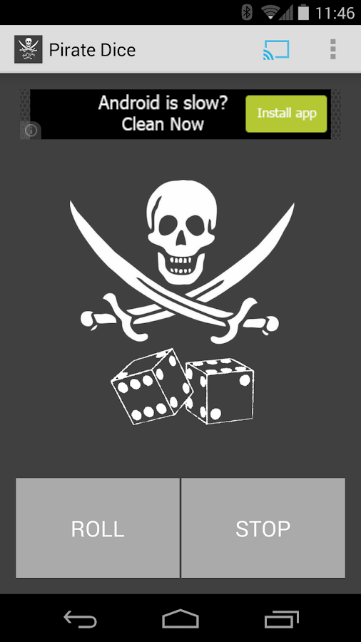 Pirate Dice - Chromecast Game- screenshot