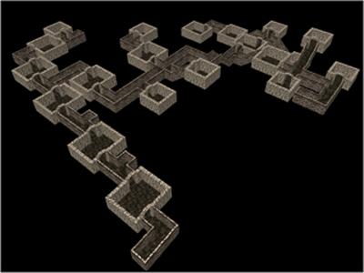Random Dungeon Generator by Brett Unzaga | Experiments with