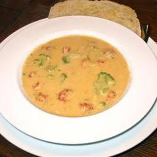 Broccoli Crawfish Cheese Soup.