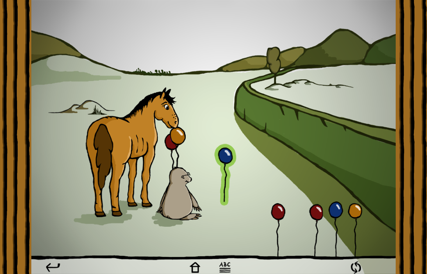 Harold the horse by the hedge- screenshot