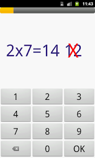 Multiplication table applications android sur google play for Sur la table application